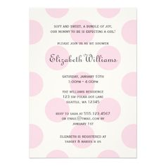 434 best polka dot baby shower invitations images on pinterest sweet pink polka dots baby girl shower invitation filmwisefo