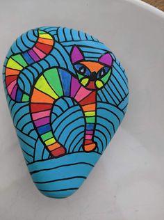 Rock Painting Patterns, Dot Art Painting, Rock Painting Designs, Pebble Painting, Pebble Art, Stone Painting, Painted Rock Animals, Painted Rocks Craft, Pet Rocks