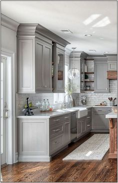 If you are looking for Farmhouse Kitchen Cabinet Design Ideas, You come to the right place. Here are the Farmhouse Kitchen Cabinet Design Ideas. Kitchen Cabinets And Backsplash, Farmhouse Kitchen Cabinets, Modern Farmhouse Kitchens, Kitchen Cabinet Design, Cool Kitchens, Backsplash Ideas, Farmhouse Style, Backsplash Design, White Kitchens