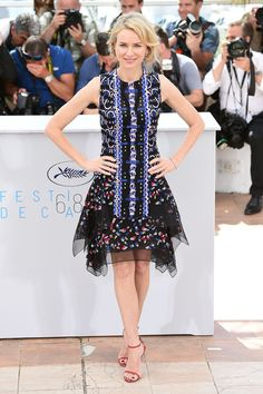 Naomi Watts in Peter Pilotto. Cannes 2015