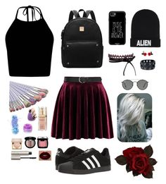"""Random outfit 😂"" by sophia-smiles on Polyvore featuring adidas, Casetify, Nicopanda, Fallon, In Your Dreams, FCTRY, Elizabeth Arden, Stila, Edward Bess and NYX"