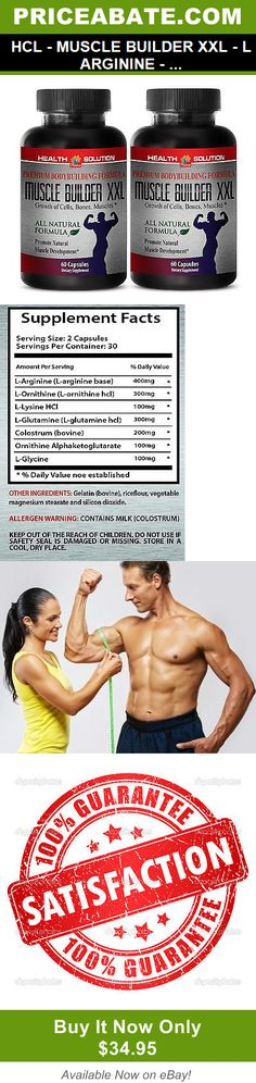 Weight Loss Supplements: Hcl - Muscle Builder Xxl - L Arginine - Premium Formula - 2B 120Ct -> BUY IT NOW ONLY: $34.95 on eBay!