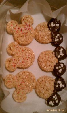 Disney Rice Krispie Treats (homemade by me ;-)