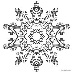116 Printable Intricate Mandala Coloring Pages от KrishTheBrand