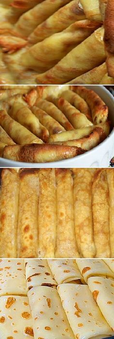 These crepes literally melt in your mouth. - Food and drinks - Mexican Food Recipes, Sweet Recipes, Crepes And Waffles, Good Food, Yummy Food, Salty Foods, Crepe Recipes, Snacks, Food Porn