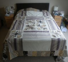 Quilt throw for bed