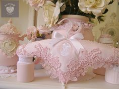 Romantic Shabby Chic lace and pearls coat hanger by luvmystuff www.luvmystuff.com.au Yes please!
