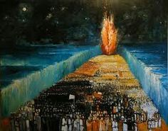"""19. Israel walked to safety upon dry ground. """"And the children of Israel went into the midst of the sea upon the dry ground: and the waters were a wall unto them on their right hand, and on their left."""" Exodus 14:22  """"He turned the sea into dry land: they went through the flood on foot: there did we rejoice in him."""" Psalm 66:6"""