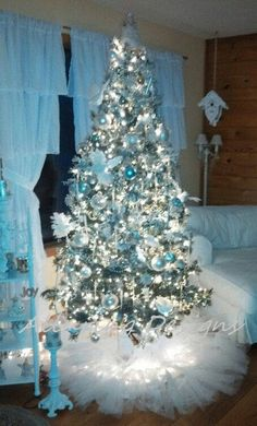 TuTu Tree Skirt Holiday Christmas Tree Skirt Tree Skirt Christmas Decorations Or Frozen Christmas Tree, Diy Christmas Tree Skirt, Teal Christmas, Winter Wonderland Christmas, Christmas Tree Themes, Xmas Tree, Christmas Tree Decorations, Christmas Holidays, Christmas Movies