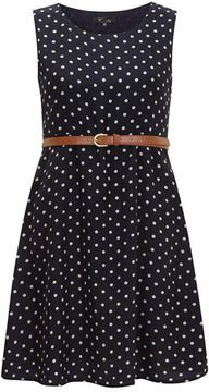 Blue polka dot skater dress on shopstyle.com