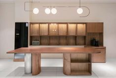 slide image Kitchen Interior, Interior Design Living Room, Kitchen Design, Arch Interior, Retail Interior, Commercial Design, Commercial Interiors, Counter Design, Cabinet Design