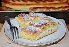 Tiroli túrós rétes Bread Recipes, Baking Recipes, Cake Recipes, Dessert Recipes, Sweet Cookies, Cake Cookies, Cupcakes, Hungarian Recipes, Hungarian Food
