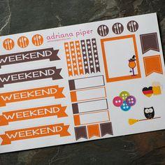 October Vertical/Horizontal Sampler Stickers for Erin Condren Life Planner, Plum Paper Planner, Filofax, Kikki K, Calendar or Scrapbook by adrianapiper on Etsy