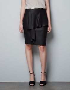 PENCIL SKIRT WITH FRILL AT THE FRONT - Skirts - Woman - ZARA Lithuania