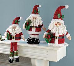 Plush Santa Claus Shelf Sitter
