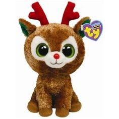 ty beanie boos comet reindeer christmas beanie boos beanie baby bears rare beanie - Christmas Stuffed Animals