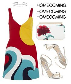 """""""Waves"""" by mariam-magana on Polyvore featuring Jimmy Choo, RED Valentino, Oscar de la Renta and Boohoo"""