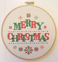 Modern Christmas cross stitch pattern - Modern Christmas - http://etsy.me/1MvBvVJ