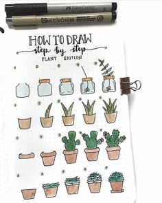 Фото: Cute and simple ways to draw a plant  #handmade #art #design
