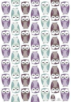 Owls! Wrapping paper from Pleased to Meet (Berlin designers Daniela Könn and Marcel Hornung)
