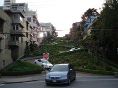 Famous Crooked Street San Francisco, Calfornia