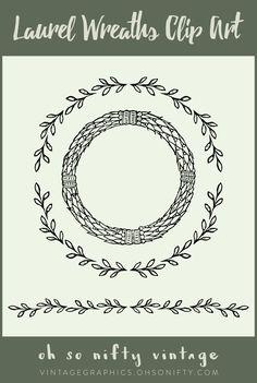 Lovely Stock Images - Laurel Wreaths Clip Art Vectors