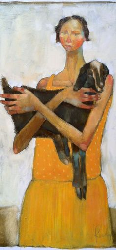 Olivia Pendergast. I tried to link directly to her site but this image was not on it. She paints beautifully.  http://www.oliviapendergast.com/oliviapendergast/home.html