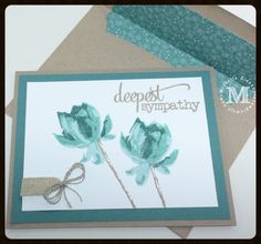 Stampin Up Sympathy, Lotus Blossom