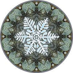 snowflake mandala. botanical mandala
