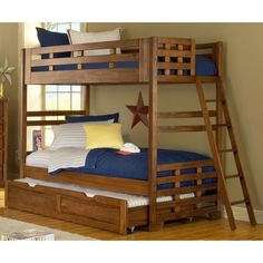 Hardy Twin Bunk Bed with Optional Trundle | Overstock.com Shopping - The Best Deals on Kids' Beds