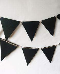 Chalkboard Sign Triangle Flag Pennant Banner Decoration (11FT)