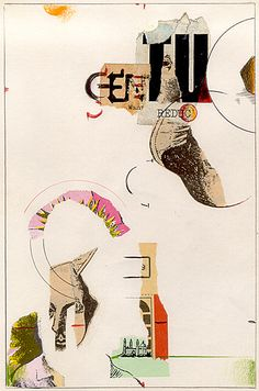 Ed Fella: Cranbrook Thesis Project 1987. #collage #design #typography