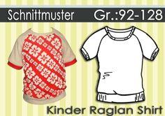 Schnittmuster & Anleitung Raglan Shirt Gr:92-128