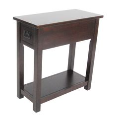 Alaterre Furniture Mission Espresso Wood End Table at Lowe's. Classic Mission Style furniture collection is handsomely crafted and versatile with many decorating styles. Made of select hardwoods this chairside table Chair Side Table, Wood End Tables, Sofa Tables, Entryway Tables, Dining Chairs, Mission Chair, Mission Style Furniture, Space Furniture, Table Furniture
