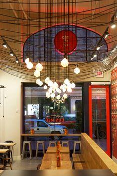 Branding and interior design for Bun Mee, a gourmet Vietnamese sandwich shop in San Francisco.