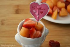 Heart Shaped Fruit Bites: A Fun, Healthy Valentine's Day Snack for Kids #recipes #fruit #healthysnacks #heartshaped #heartshapedfruit