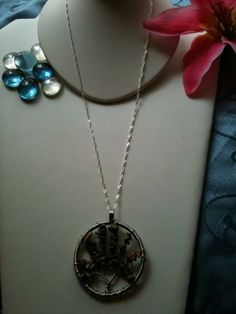handmade wire wrap & stone chip tree of life pendant message me to purchase