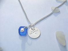 Sea glass necklace. Beach glass jewelry. by EgyptianInspirations, $25.99