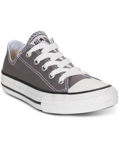Converse Boys' & Girls' Chuck Taylor Original Sneakers from Finish Line Grey Converse, Kids Converse, Converse Shoes, Satin Shoes, Strappy Shoes, Cute Shoes, Me Too Shoes, Prom Shoes Silver, Ballroom Dance Shoes