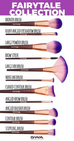 Cruelty free and super soft this brush set has 17 different brushes for flawless application for face, eyes and lips and a holographic bag to store them in. Carefully hand-crafted with purple ombre an Best Makeup Brushes, How To Clean Makeup Brushes, Eyeshadow Brushes, Eyeshadow Makeup, Face Brushes, Makeup Brush Cleaner, Makeup Brush Set, Beauty Sponge, Makeup Sponge