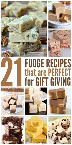 If you're a little bored with the same old fudge recipe you've been using for years, take these fudge recipes out for a spin.