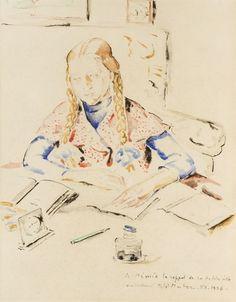 Mela (Maria Melania) Muter (Mutermilch) - Mimie nad listem, 1936 r.
