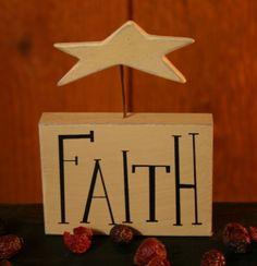 Faith Block with Star