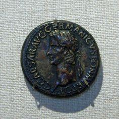 Bronze coin,sestertius of Gaius (Caligula) Julio Claudian period,dated 37-41 AD