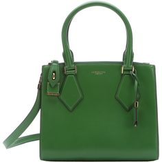 Michael Kors Lawn Leather Small 'casey' Convertible Satchel... ($700) ❤ liked on Polyvore featuring bags, handbags, lawn, green leather purse, hand bags, man bag, leather handbags and satchel purse