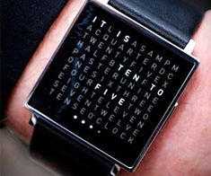 Get the time told to you in a brilliant way with this time telling watch. Featuring a unique grid of possible word combinations, the time telling watch by Qlocktwo is a modern twist on the wrist watch, and with its stunning stainless steel design it will go well with any outfit.  Buy It  $725.00