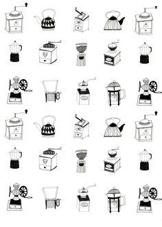 Commission coffee pattern design for restaurant wallpaper by Ryn Frank www.rynfrank.co.uk