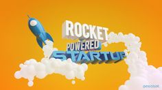 Rocket AD on Behance #3Dtypography #3D_typography #3D #typography