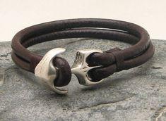 FREE SHIPPING Men's leather bracelet Brown leather by eliziatelye, $23.00