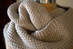 Classic Cowl | The Purl Bee. They use something called the fluffy brioche stitch